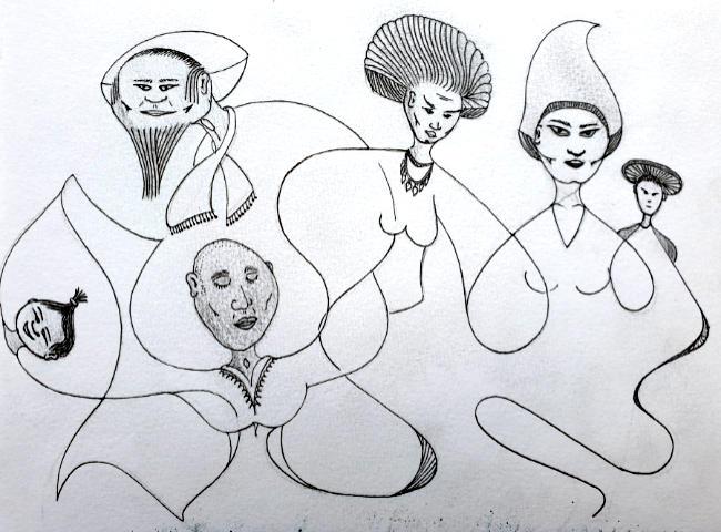 Oene van Geel - Shamanic Characters – for Sumire & Mark