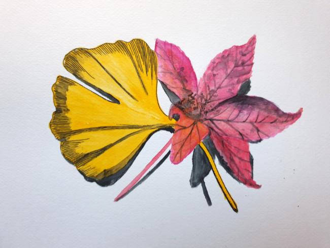 Oene van Geel - Two Autumn Leaves